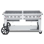 """Crown Verity RCB-60-LP 60"""" Mobile Gas Commercial Outdoor Grill w/ Water Pans, LP"""