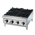 "Toastmaster TMHP6 36"" Gas Hotplate w/ (6) Burners & Manual Controls"