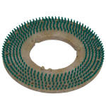 "Bissell 53304-01 17"" Pad Holder Brush for Lo-Boy Floor Machine, Green"