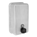 Alpine Industries 423-SSB 40-oz Wall-Mount Liquid Soap Dispenser - Manual, Stainless