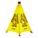 "Alpine Industries 498-20 22"" Pop-Up Wet Floor Sign - Polyester, Yellow"