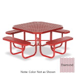 "Wabash Valley SG145D BL 46"" Octagon Portable Table w/ (8) Adult Capacity, Powder Coating, Diamond"