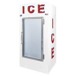 "Leer, Inc. L030UAGE 36"" Indoor Ice Merchandiser w/ (50) 10-lb Bag Capacity - White, 120v"