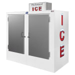 "Leer, Inc. L075UASE 73"" Outdoor Ice Merchandiser w/ (155) 10 lb Bag Capacity - White, 120v"