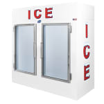 "Leer, Inc. L075UAGE 73"" Indoor Ice Merchandiser w/ (145) 10 lb Bag Capacity - White, 120v"