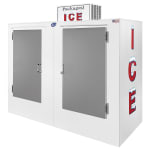 "Leer, Inc. L085UASE 84"" Outdoor Ice Merchandiser w/ (180) 10 lb Bag Capacity - White, 120v"