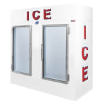 "Leer, Inc. L085UAGE 84"" Indoor Ice Merchandiser w/ (160) 10 lb Bag Capacity - White, 120v"