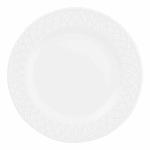 "Churchill APREEP81 8"" Round Alchemy® Jardin Plate - Ceramic, White"