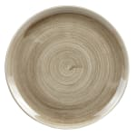 "Churchill PAATEV101 10.25"" Round Patina Plate - Ceramic, Antique Taupe"