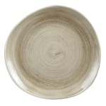 "Churchill PAATOG71 7.25"" Round Patina Plate - Ceramic, Antique Taupe"