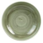 Churchill PABGEVB91 40 oz Patina Bowl - Ceramic, Burnished Green