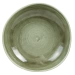 Churchill PABGOGB11 38 oz Patina Bowl - Ceramic, Burnished Green