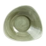 Churchill PABGTRB61 9 oz Triangular Patina Bowl - Ceramic, Burnished Green