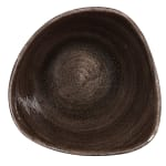 Churchill PAIBTRB61 9 oz Triangular Patina Bowl - Ceramic, Iron Black