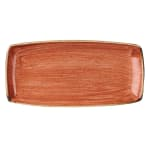 "Churchill SSOSOP111 Rectangular Stonecast Plate - 11.75"" x 6"", Ceramic, Spiced Orange"