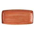 "Churchill SSOSOP141 Rectangular Stonecast Plate - 14"" x 7.25"", Ceramic, Spiced Orange"