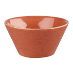Churchill SSOSZE121 12 oz Stonecast Zest Bowl - Ceramic, Spiced Orange