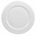 """Churchill WHBALP91 9.13"""" Round Bamboo Plate - Ceramic, White"""