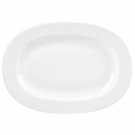 "Churchill WHBALR131 13"" Oval Bamboo Plate - Ceramic, White"