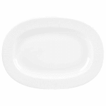 "Churchill WHBALR81 8"" Oval Bamboo Plate - Ceramic, White"