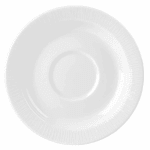 "Churchill WHBALSM1 5.87"" Bamboo Saucer - Ceramic, White"