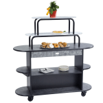 Geneva 37218 Oval Dessert Cart w/ Multi-Tiered Design