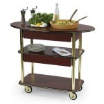 Geneva 37307 Oval Dessert Cart w/ Multi-Tiered Design