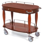 Geneva 70011 Oval Dessert Cart w/ Multi-Tiered Design