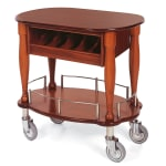 Geneva 70036 Oval Dessert Cart w/ Multi-Tiered Design