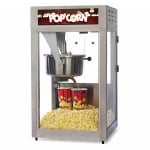 Global Solutions GS1516 Popcorn Machine w/ 16 oz Kettle - Stainless Steel, 120v