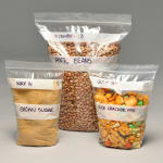 "Elkay Plastics F20608PPH 1-pint Seal-Top Stand-Up Food Storage Pouch - 8"" x 6"", Poly"