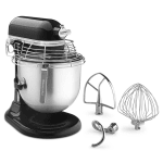 KitchenAid Commercial KSMC895OB 10-Speed Bowl-Lift Stand Mixer w/ 8-qt Stainless Bowl & Accessories, Onyx Black