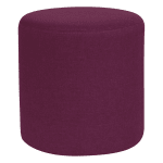 "Flash Furniture QY-S10-5001-1-PRP-GG 15.75"" Round Barrington Ottoman Pouf - 16.25""H, Purple Fabric"