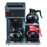 Curtis CAFE3DB10A000 Airpot Pour-Over Coffee Brewer w/ (2) Lower & (1) Upper Warmer, 1.9 L Capacity, Manual Fill, 120v