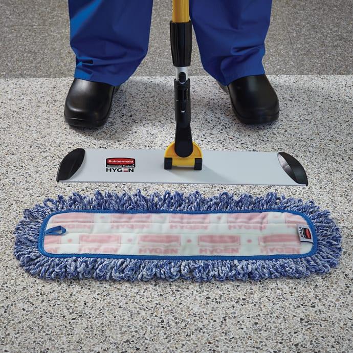 18 Hygen High Absorbency Microfiber Damp Mop in Blue Set of 6
