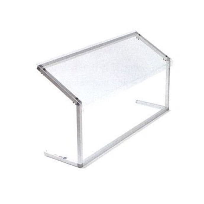 Carlisle 927207 73 5 8 Portable Sneeze Guard Adjustable Acrylic Aluminum Clear