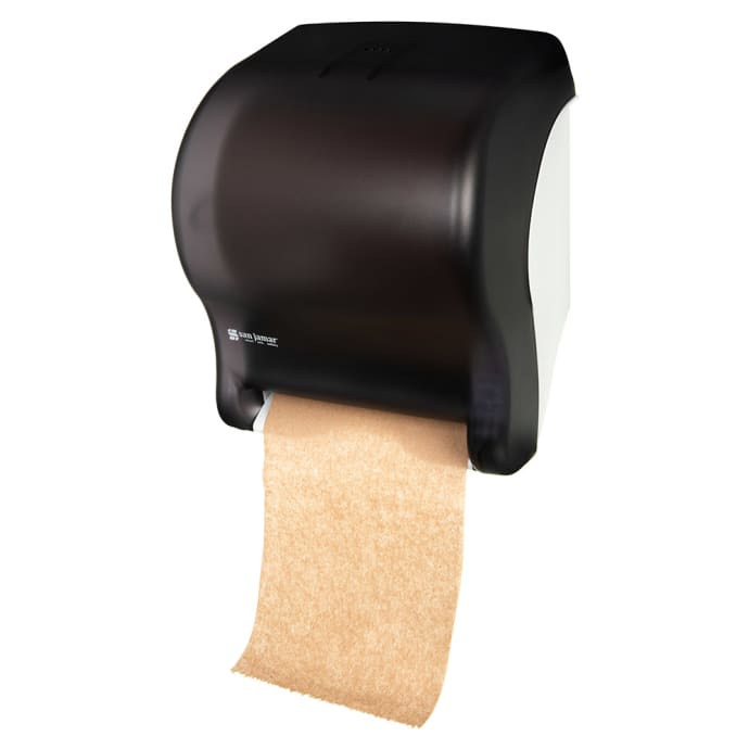 San Jamar T8000tbk Wall Mount Touchless Roll Paper Towel Dispenser Plastic Black Pearl
