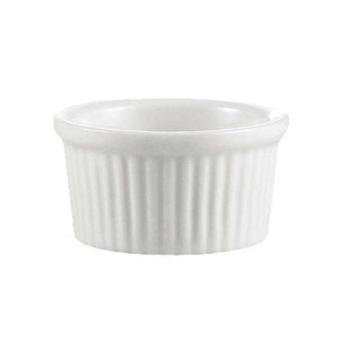 Cac Rkf3w 3 Oz Rkf Ramekin Fluted Porcelain Super White