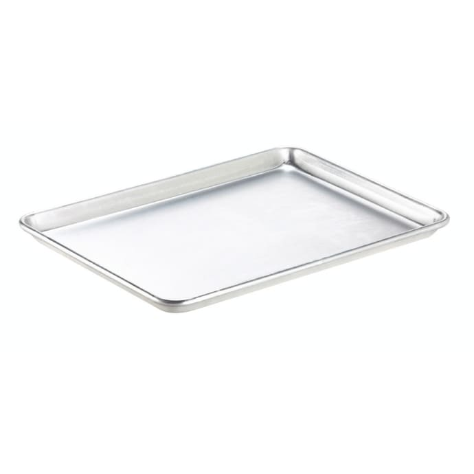 Browne 58182632 1 1 Full Size Bun Sheet Pan 26 X 18 X 1 20 Gauge Aluminum Natural Finish