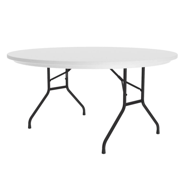 Correll R60 24 60 R Series Round Folding Table W Mocha Granite Plastic Top 29 H