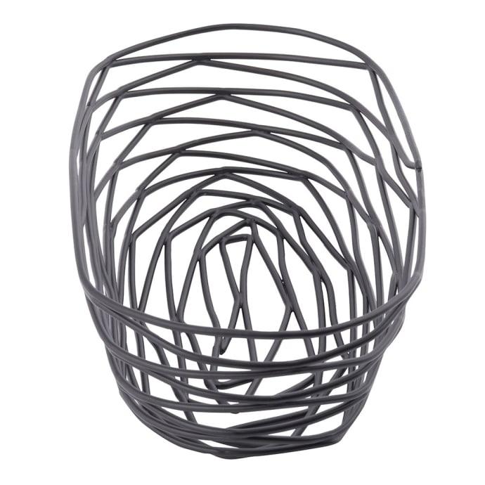 Oblong TableCraft Products BK11709 Basket Black Metal 9 x 4 x 2