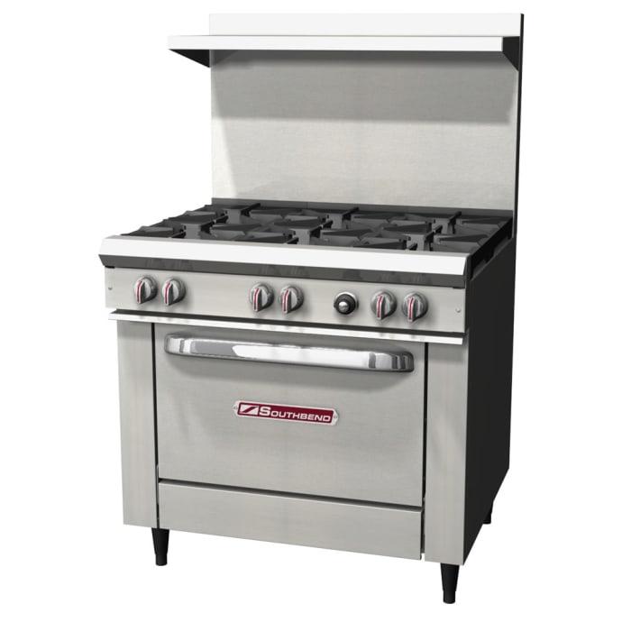 Southbend S36d 36 6 Burner Gas Range W Standard Oven Natural Gas
