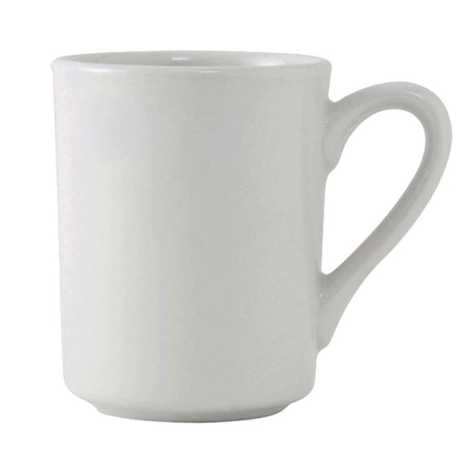 Tuxton Alm 085 8 1 2 Oz Alaska Brea Mug Ceramic Porcelain White