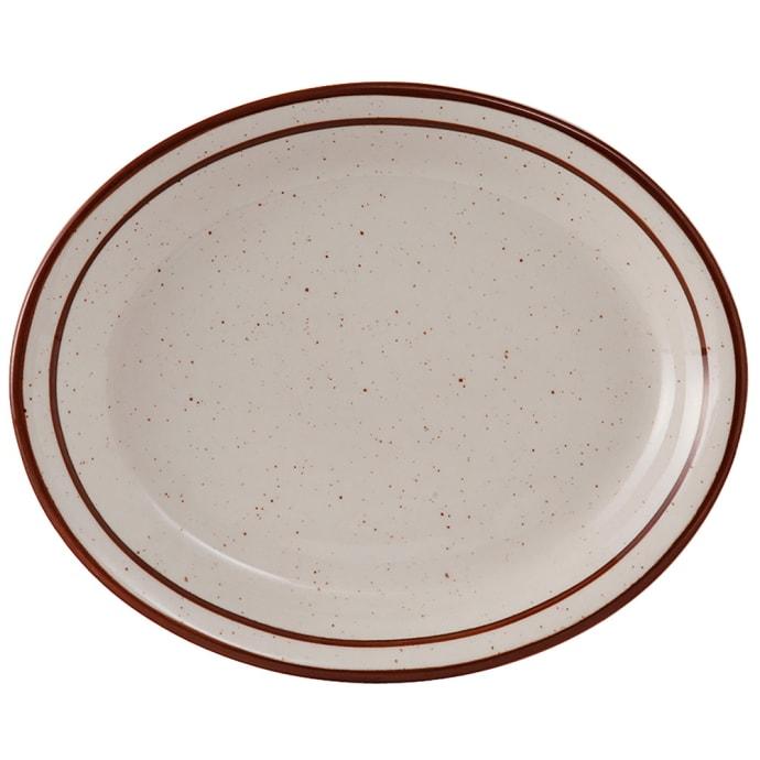 Tuxton Tbs 013 Oval Bahamas Platter 11 1 2 X 9 1 8 Ceramic American White