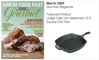 Lodge Cast Iron Seasoned 10.5 Square Grill Pan