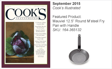 Mauviel 12.5 Round M'Steel Fry Pan With Handle