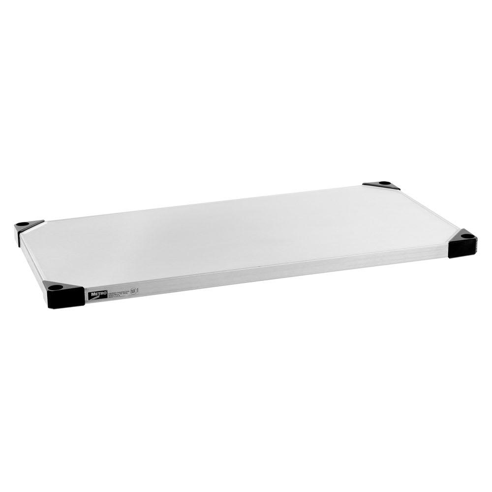 "Metro 2448FS Super Erecta® Stainless Steel Solid Shelf - 48""W x 24""D"