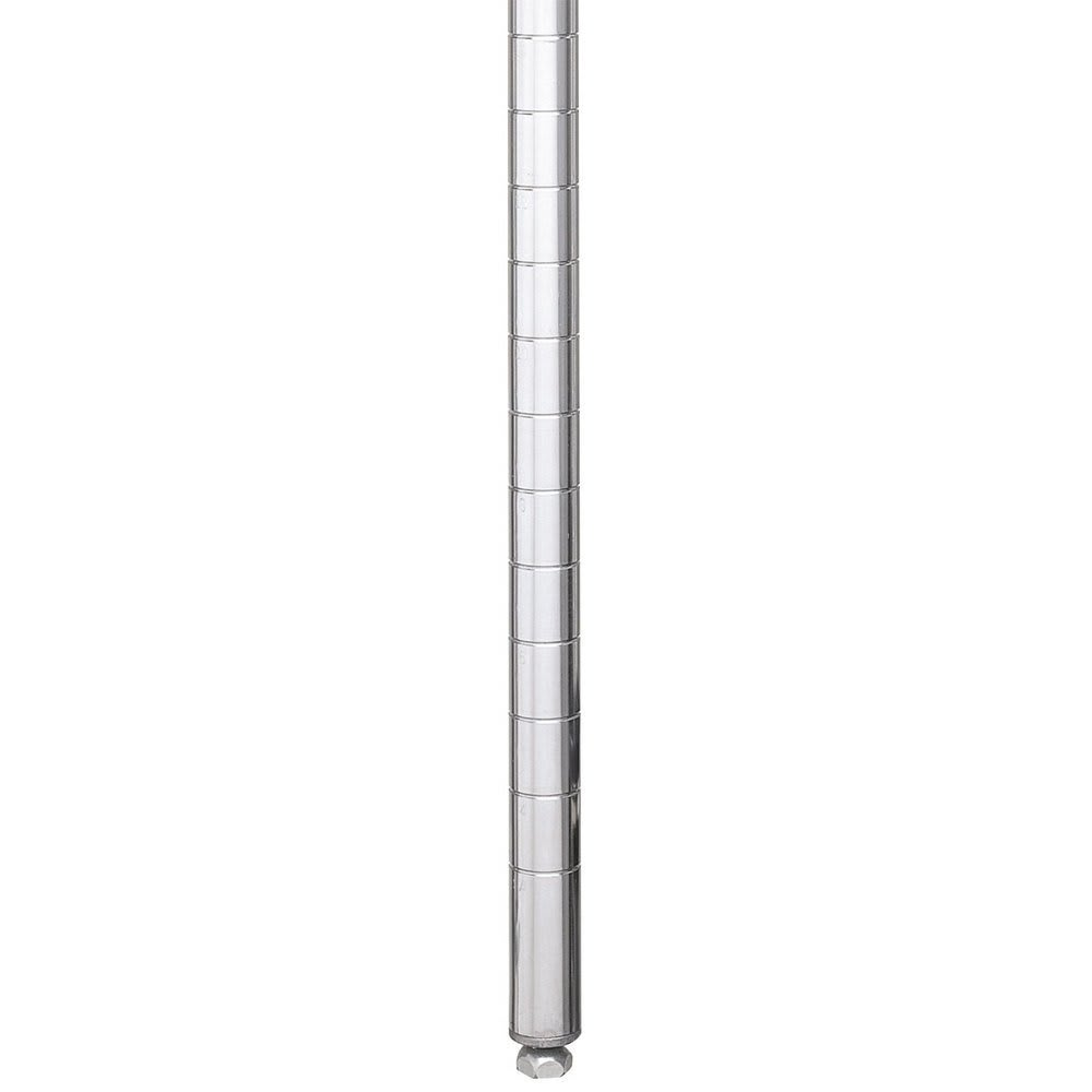 "Metro 54PS 54.43"" Super Erecta® Shelving Post w/ 2"" Number Increments, Stainless Steel"