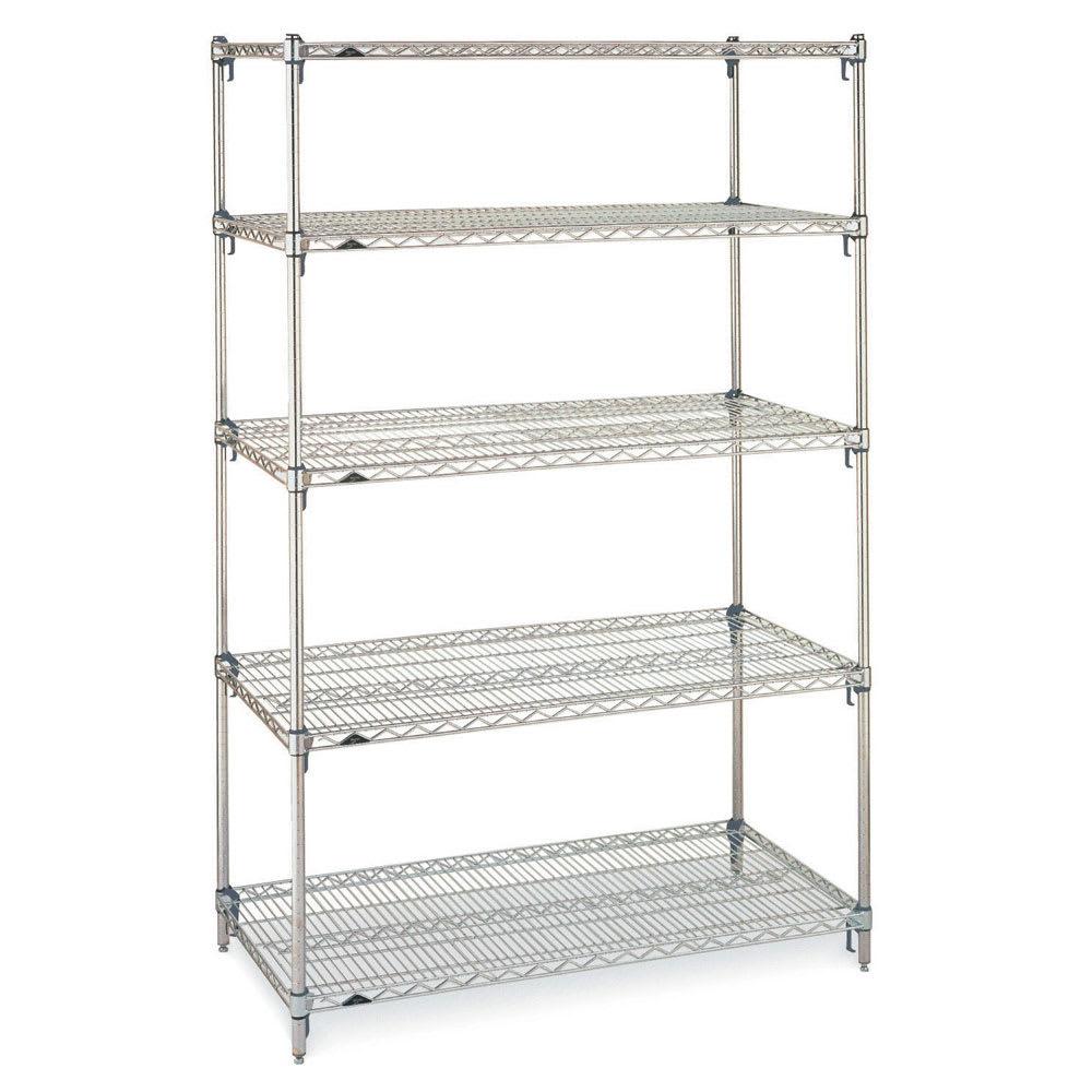 "Metro 5A557C Super Erecta® Chrome Wire Shelf Kit - 48""W x 24""D x 74""H"