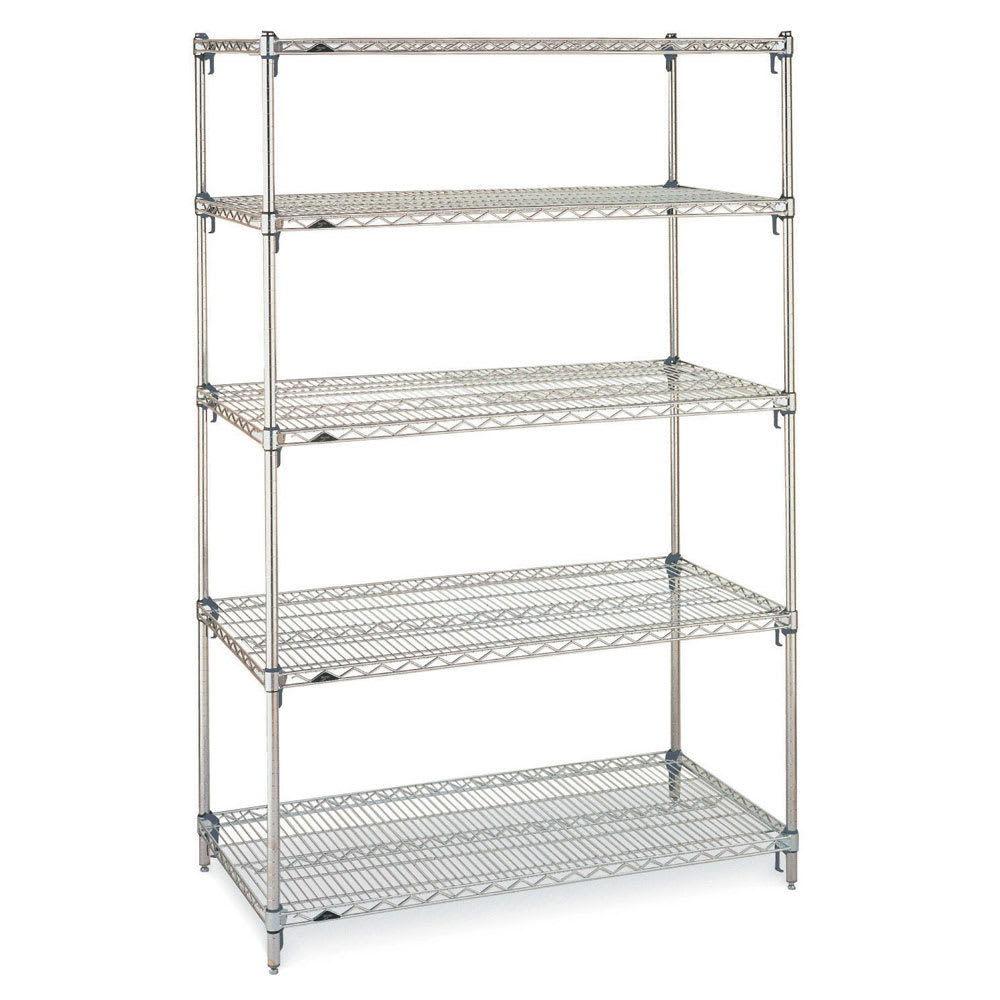 "Metro 5A567C Super Erecta® Chrome Wire Shelf Kit - 60""W x 24""D x 74""H"